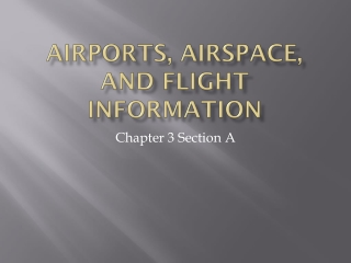 Airports, Airspace, and Flight Information