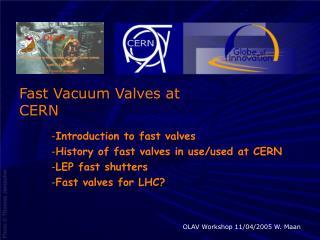 Fast Vacuum Valves at CERN