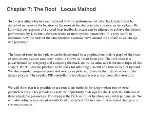 Chapter 7: The Root   Locus Method