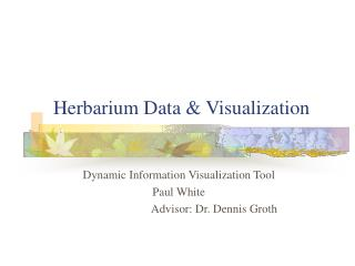 Herbarium Data & Visualization