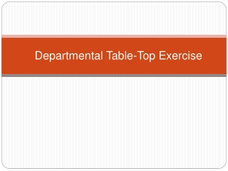 Departmental Table-Top Exercise