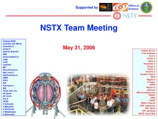 NSTX Team Meeting