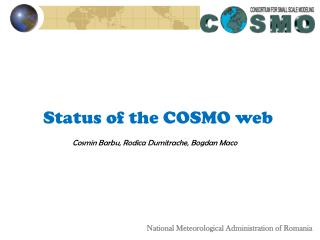 Status of the COSMO web