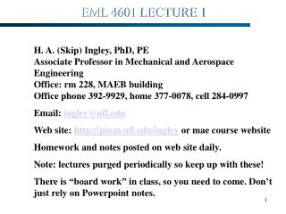 EML 4601 LECTURE 1