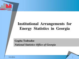 Gogita Todradze National Statistics Office of Georgia