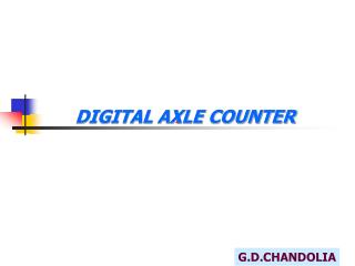 DIGITAL AXLE COUNTER