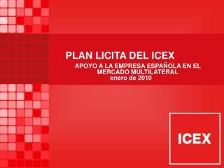 PLAN LICITA DEL ICEX