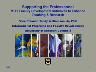 Supporting the Professorate: MU's Faculty Development Initiatives to Enhance Teaching & Research
