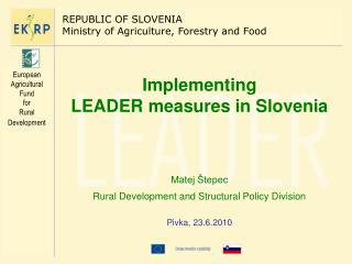 Implementing  LEADER measures in Slovenia