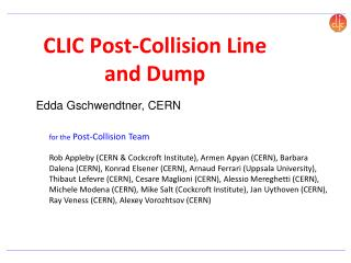 CLIC Post-Collision Line and Dump