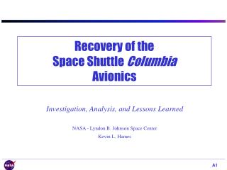 Recovery of the Space Shuttle  Columbia Avionics