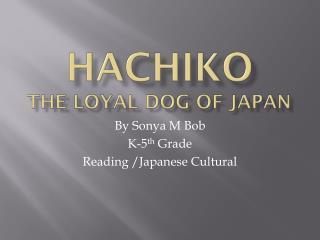 Hachiko The loyal dog of Japan