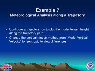 Example 7 Meteorological Analysis along a Trajectory