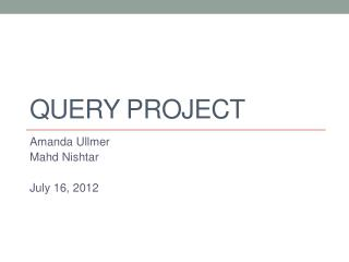 Query Project