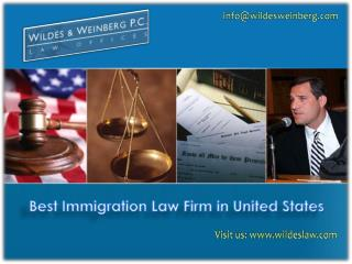 Best U.S. Immigration Law Firm Wildes and Weinberg