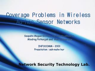 Coverage Problems in Wireless  Ad-hoc Sensor Networks
