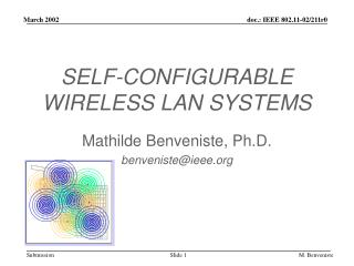 SELF-CONFIGURABLE WIRELESS LAN SYSTEMS
