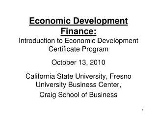 California State University, Fresno University Business Center, Craig School of Business