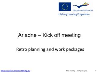 Ariadne – Kick off meeting