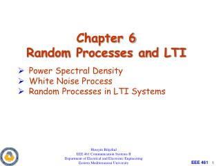 Chapter 6 Random Processes and LTI