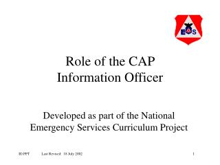 Role of the CAP  Information Officer