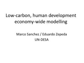 Low-carbon, human development economy-wide  modelling