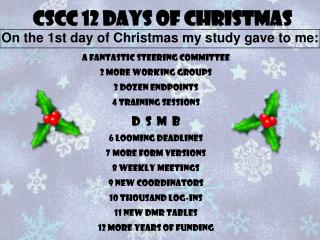CSCC 12 Days of Christmas