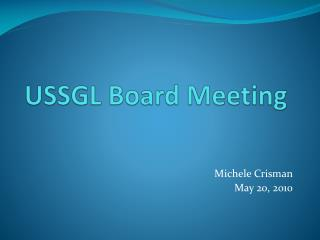 USSGL Board Meeting