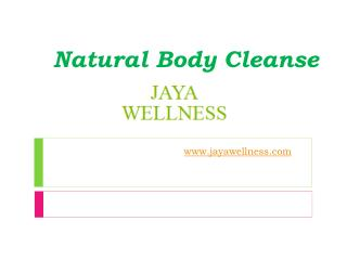 Natural Body Cleanse - www.jayawellness.com