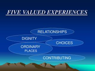 FIVE VALUED EXPERIENCES