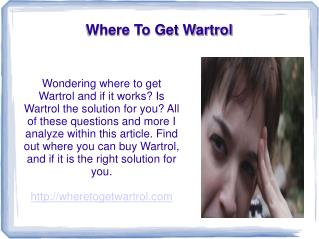 Where To Get Wartrol