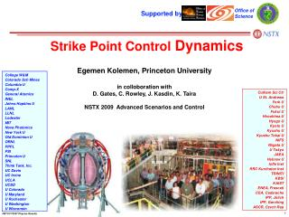 Strike Point Control  Dynamics
