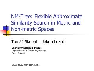 NM-Tree : Flexible Approximate Similarity Search in Metric and Non-metric Spaces