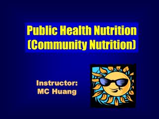 Public Health Nutrition (Community Nutrition)