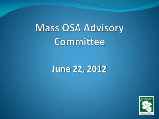 Mass OSA Advisory Committee