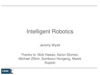 Intelligent Robotics