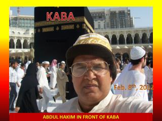 ABDUL HAKIM IN FRONT OF KABA