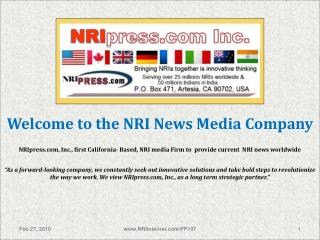 NRI press Inc.