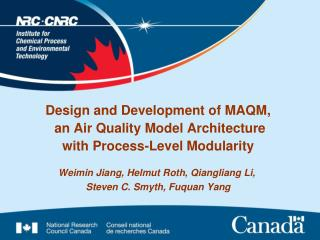 Design and Development of MAQM,  an Air Quality Model Architecture with Process-Level Modularity