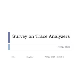 Survey on Trace Analyzers