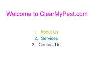 Pest Control Services Bangalore in India by ClearMyPest