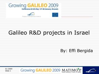 Galileo R&D projects in Israel