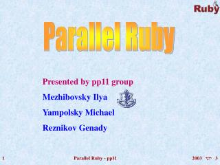 Parallel Ruby