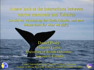 A new look at the interactions between marine mammals and fisheries
