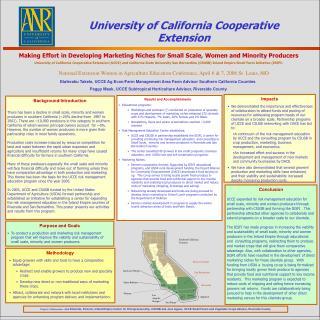 Etaferahu Takele, UCCE Ag Econ/Farm Management Area Farm Advisor Southern California Counties