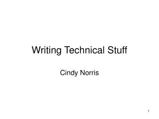 Writing Technical Stuff