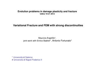 Variational Fracture and FEM with strong discontinuities