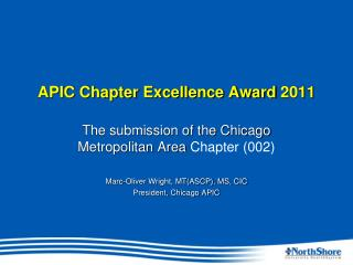 APIC Chapter Excellence Award 2011