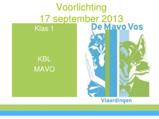 Voorlichting 17 september 2013