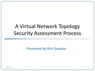 A Virtual Network Topology Security Assessment Process